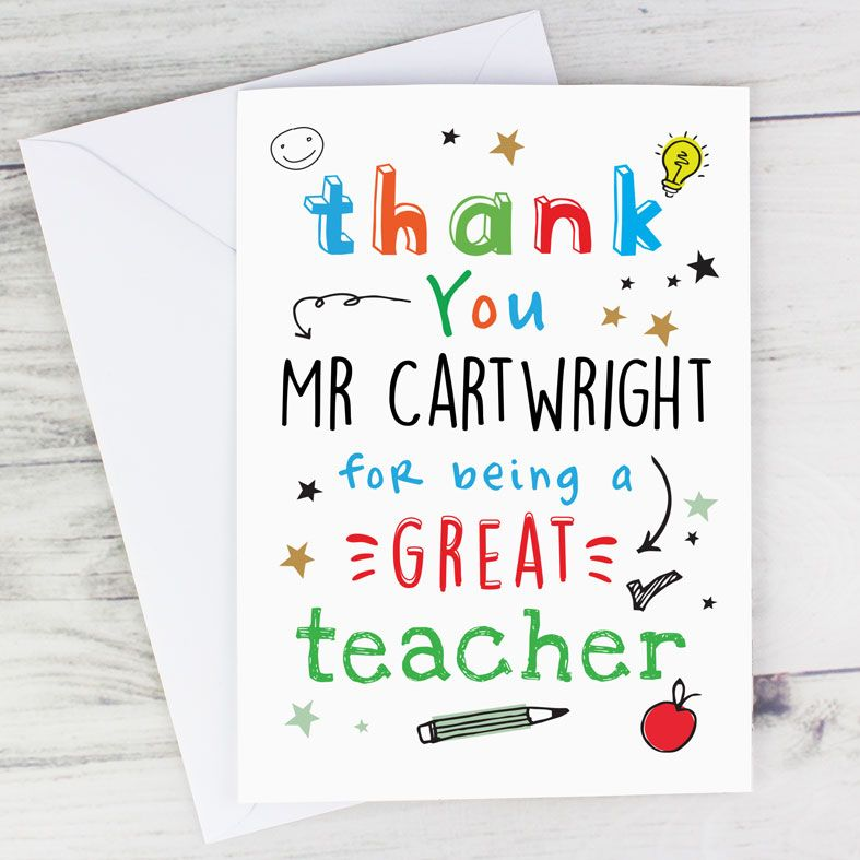 Personalised Thank You Teacher Card | PhotoFairytales