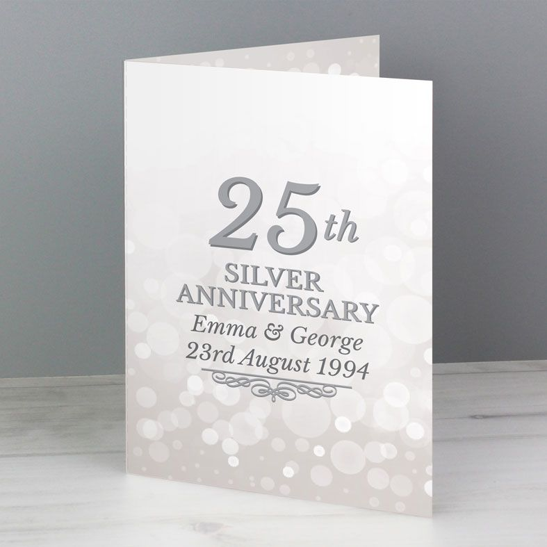 Personalised Anniversary Card - 25th Silver, 40th Ruby, 50th Gold | PhotoFairytales