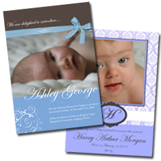 Personalised Birth Announcements Christening Invitations Photo