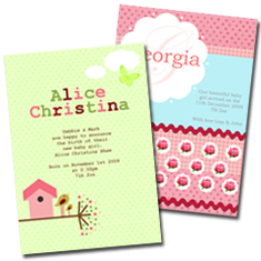 Personalised Birth Announcements Christening Invitations