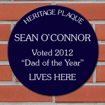 Personalised Blue Heritage Plaque father's day gift