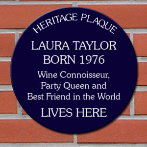 Personalised Blue Heritage Plaque gift for her