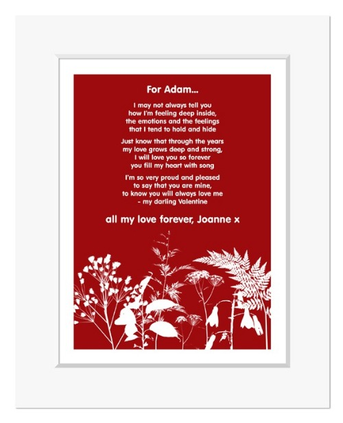Nature personalised romantic love poem
