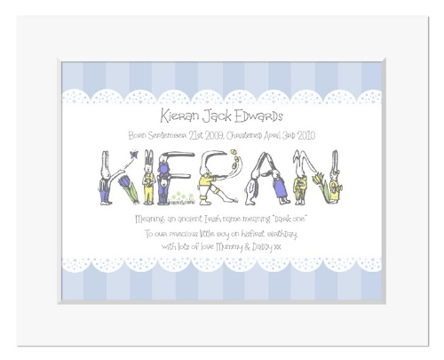 Bunny Rabbit meaning of name personalised christening gift