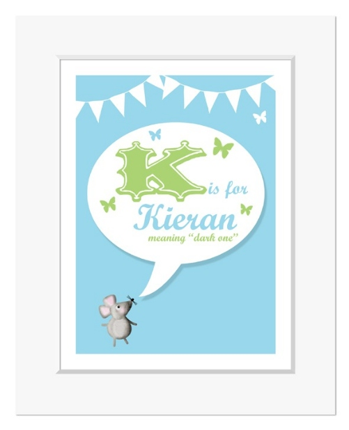 Retro meaning of name personalised christening gift