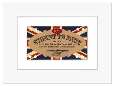 Personalised Ticket to Ride print