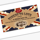 Personalised Ticket Print logo love