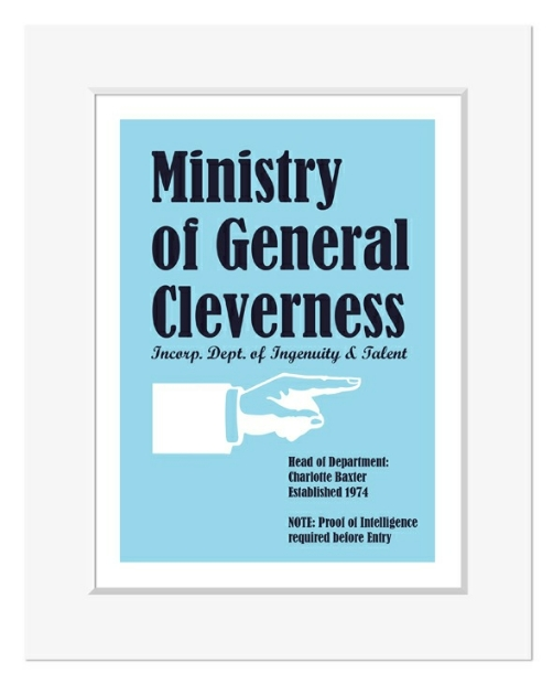 Ministry of General Cleverness personalised office gift