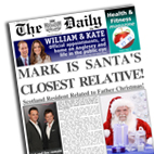 Personalised Newspaper gift Santa's Relative