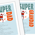 Superhero Super Dad personalised comic book hero father's day gift
