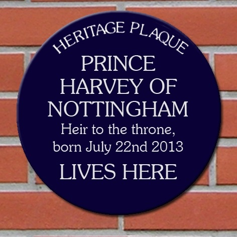 Personalised Blue Heritage Plaque new baby gift
