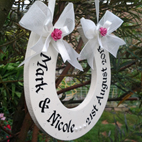 Wooden hand made wedding gift personalised