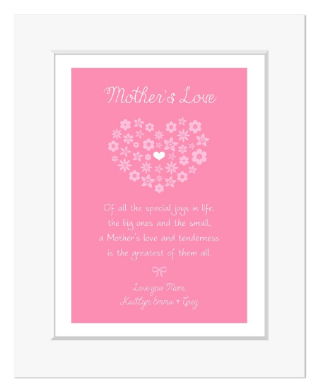 Mothers Love personalised mothers day gift