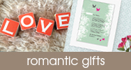 for romantic personalised handmade gifts
