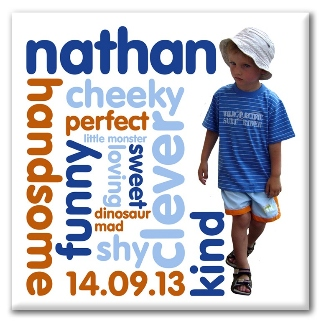 Personality Word Art personalised photo canvas gift