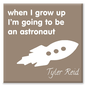 Astronaut personalised canvas print