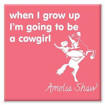 Cowgirl personalised canvas print
