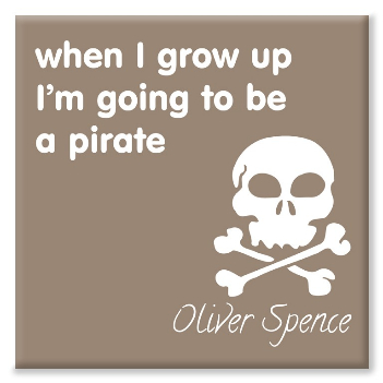 Pirate personalised canvas print