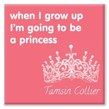 Princess personalised canvas print