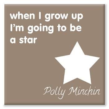 Star personalised canvas print