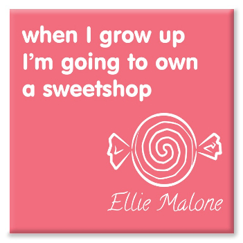 Sweetshop personalised canvas print