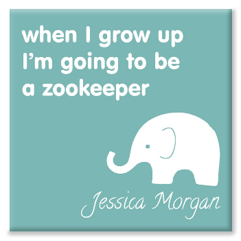 Zoo personalised canvas print
