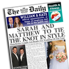 Personalised Newspaper Wedding gift
