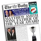 Personalised newspaper gift Father of the Year Fathers Day
