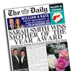 Personalised newspaper gift Mother of the Year Mothers Day