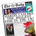 Personalised Newspaper gift Fishing