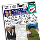 Personalised newspaper gift Football