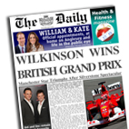 Personalised newspaper gift F1 Grand Prix