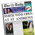 Personalised Golf Newspaper gift St Andrews