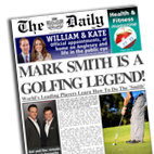 Personalised newspaper gift Golfing Legend