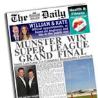 Personalised newspaper gift Rugby League