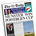 Personalised newspaper gift Rugby Union