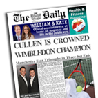 Personalised newspaper wimbledon Tennis Womens