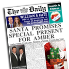 Personalised Newspaper Santa Christmas gift