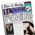 Personalised newspaper valentine gift Greatest Lover