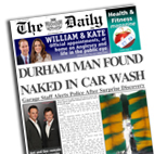Personalised newspaper gift Naked in Car Wash