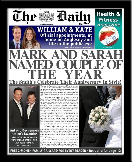 Personalised Anniversary Newspaper | personalised newspaper gift from PhotoFairytales