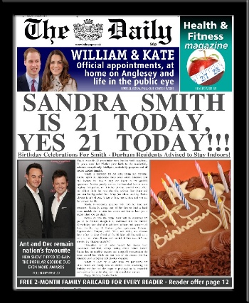 Personalised Birthday Newspaper | personalised newspaper gift from PhotoFairytales