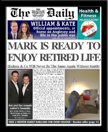Retirement personalised newspaper work colleague retire gift