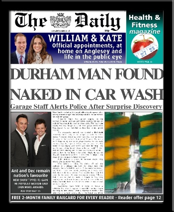 Personalised Naked in Car Wash Newspaper | personalised newspaper gift from PhotoFairytales