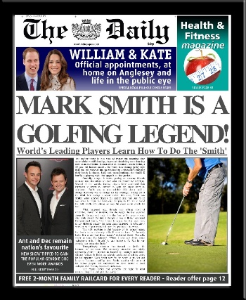 Personalised Golfing Champion Newspaper | personalised newspaper gift for golfer from PhotoFairytales
