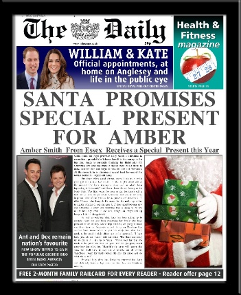 Personalised Santa's Present Christmas Newspaper | personalised newspaper gift from PhotoFairytales