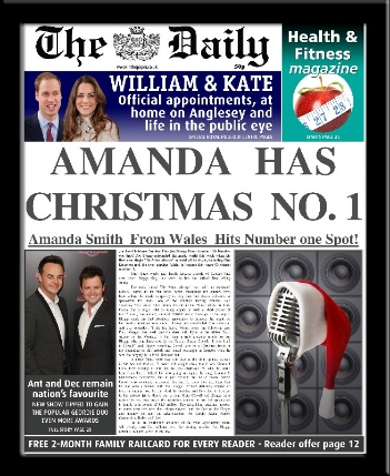 Personalised Christmas Number One Single Newspaper | personalised newspaper gift from PhotoFairytales
