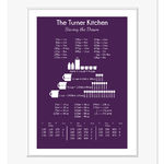 cooking conversion chart personalised print grape web