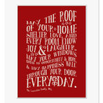 new home personalised print mount dark red web