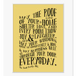 new home personalised print mount mellow yellow web
